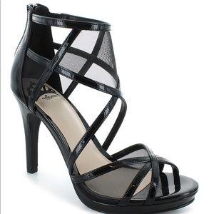 Fergalicious Women Size 8 Sandal High Heels Black